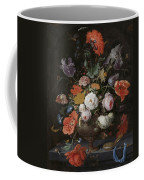 Still Life With Flowers And Watch Coffee Mug