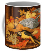 Still Life With Fruit And Macaws, 1622 Coffee Mug