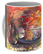 Still Life With Fruits And Vase And Dry Branches Coffee Mug