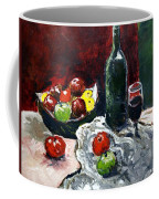 Still Life With Fruits And Wine Coffee Mug