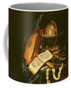 Still Life With Musical Instruments Oil On Canvas Coffee Mug