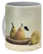 Still Life With Pears Coffee Mug by Priska Wettstein