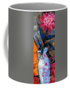 Still Life With Pink Peony In White Vase Coffee Mug