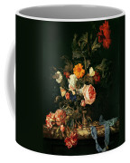 Still Life With Poppies And Roses Coffee Mug
