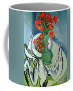 Still Life With Seagulls Poppies And Strawberries Coffee Mug