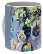 Still Life With Turquoise Bottle Coffee Mug by Sylvia Paul
