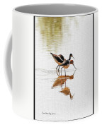 Stilt And Avocet Eat Together Coffee Mug