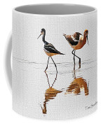 Stilt And Avocet Share The Pond Coffee Mug