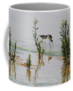 Stilts Hunting And Pecking Coffee Mug