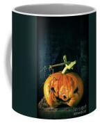 Stingy Jack - Scary Halloween Pumpkin Coffee Mug by Edward Fielding