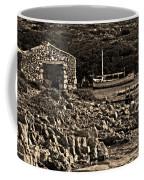 Roman Port Of Sa Nitja In Minorca - Stone And Sea Sephia Version Coffee Mug