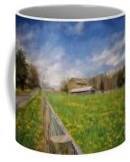 Stone Barn On A Spring Morning Coffee Mug