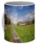 Stone Barn On A Spring Morning Coffee Mug