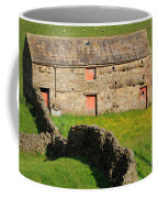 Stone Barn With Red Doors In Swaledale Yorkshire Dales Coffee Mug