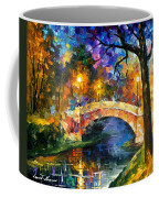 Stone Bridge - Palette Knife Oil Painting On Canvas By Leonid Afremov Coffee Mug