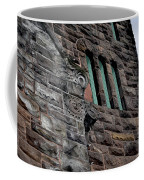 Stone Building Facade With Trefoil Window And Carved Detail Coffee Mug