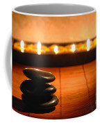 Stone Cairn And Candles For Quiet Meditation Coffee Mug by Olivier Le Queinec