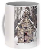 Stone Chapel In The Woods Trapp Family Lodge Stowe Vermont Coffee Mug by Edward Fielding