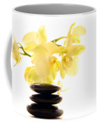 Stones And Orchid Coffee Mug by Olivier Le Queinec