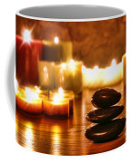 Stones Cairn And Candles Coffee Mug