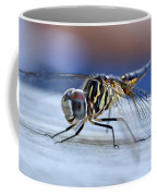 Stop By Tiger Dragon Fly Coffee Mug by Peggy Franz
