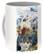 Stop The Draft Mural Berkeley Ca 1977 Coffee Mug