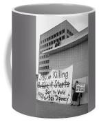Stop The Killing Say No To Israel Anti-war Protestors Tucson Arizona 1991 Coffee Mug