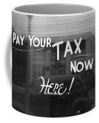 Storefront Sign, 1939 Coffee Mug