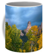 Storm Clouds Over Chimney Rock Coffee Mug