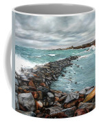 Storm In Rockport Harbor Coffee Mug