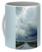 Storm Over Country Road Coffee Mug