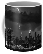 Storm Over Nyc  Coffee Mug by Jerry Fornarotto