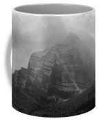 1m3556-bw-storm Raging Over Mt. Temple Coffee Mug