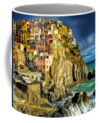 Stormy Day In Manarola - Cinque Terre Coffee Mug