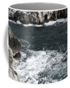Mediterranean Sea And Rocks Sculpted By Wind And Salt In South Of Menorca Coffee Mug