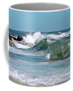Stormy Lagune - Blue Seascape Coffee Mug by Ben and Raisa Gertsberg