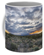Stormy Santa Fe Mountains Sunrise - Santa Fe New Mexico Coffee Mug