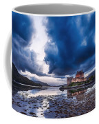 Stormy Skies Over Eilean Donan Castle Coffee Mug