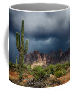 Stormy Skies Over The Superstitions Coffee Mug