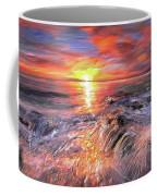 Stormy Sunset At Water's Edge Coffee Mug