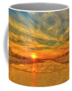 Stormy Sunset Over Santa Ana River Coffee Mug