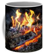 Stove - The Yule Log  Coffee Mug by Mike Savad