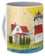 Stratford Pt Lighthouse Ct Nautical Chart Map Art Coffee Mug