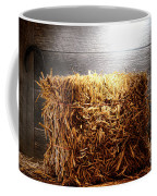 Straw Bale In Old Barn Coffee Mug by Olivier Le Queinec