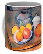 Straw Covered Vase Sugar Bowl And Apples Coffee Mug