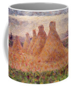 Straw Stacks Coffee Mug by Georges Pierre Seurat