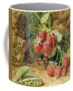 Strawberries And Peas Coffee Mug by John Sherrin