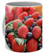 Strawberries Blueberries Mangoes - Fruit - Heart Health Coffee Mug