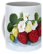 Strawberries With Blossoms Coffee Mug