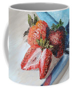 Strawberries With Knife Coffee Mug